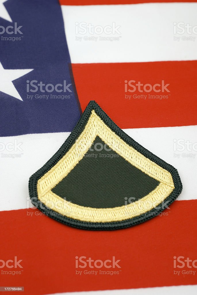 Army Private First Class Rank Insignia royalty-free stock photo