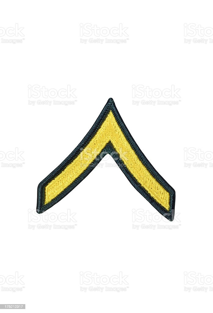 US Army Private Rank Patch royalty-free stock photo