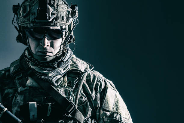 us army ranger close-up - armed forces stock photos and pictures