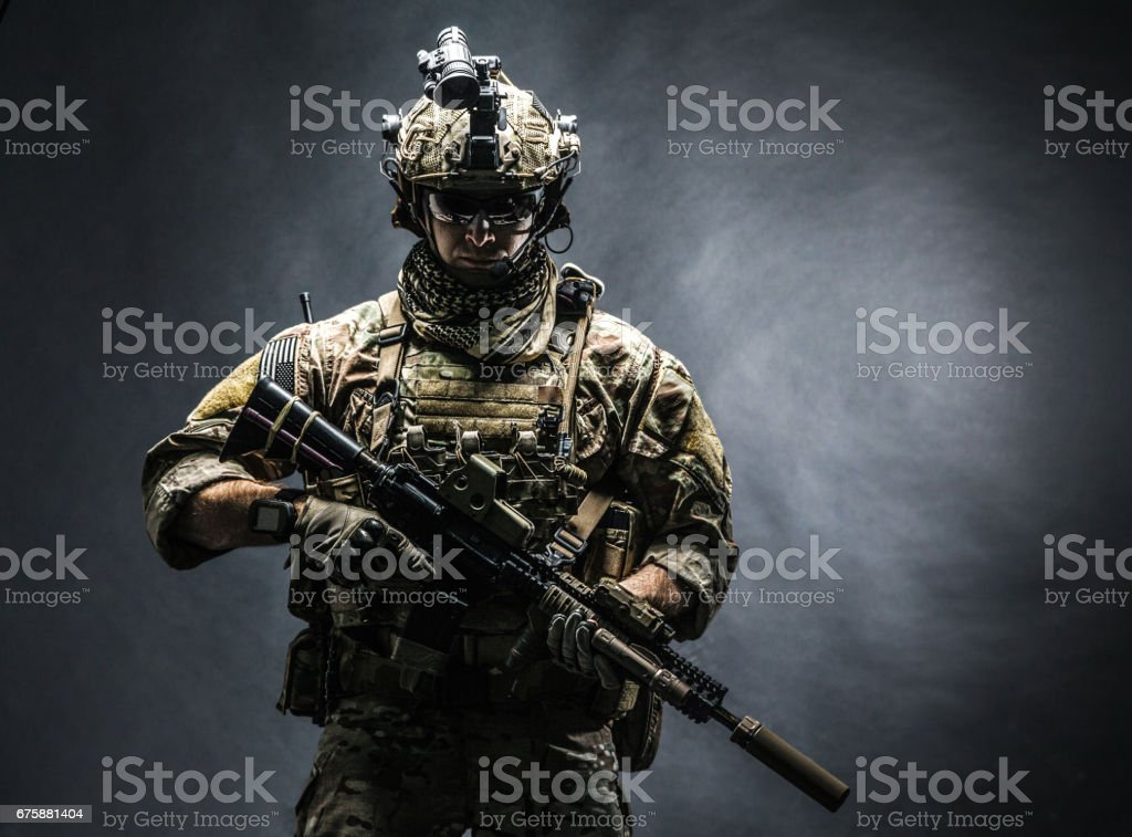 Army Ranger in field Uniforms - foto de stock
