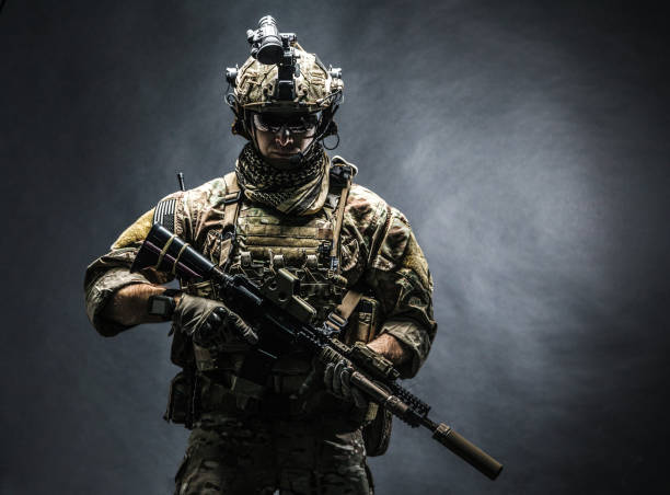 army ranger in field uniforms - armed forces stock photos and pictures