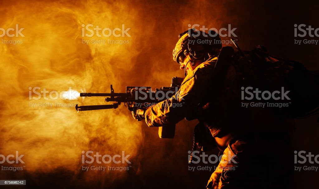 Army Ranger in field Uniforms stock photo