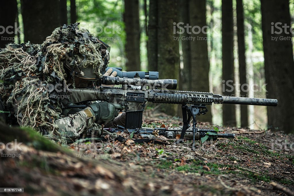 Army Rangers Sniper Pair Stock Photo - Download Image Now