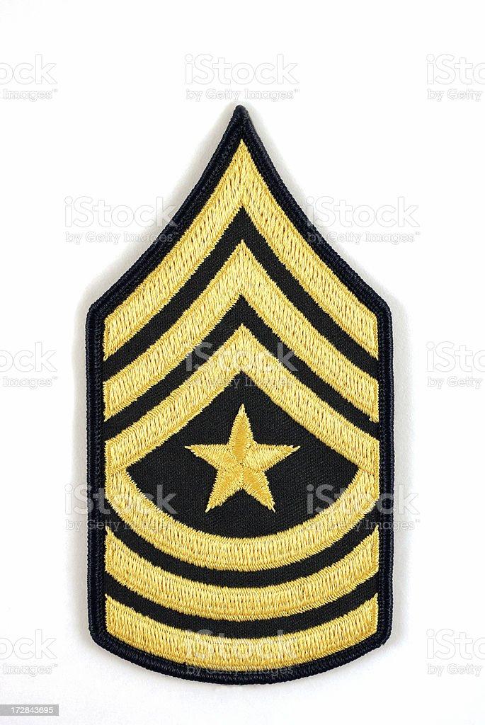 U.S. Army Sergeant Major Rank Insignia on White royalty-free stock photo