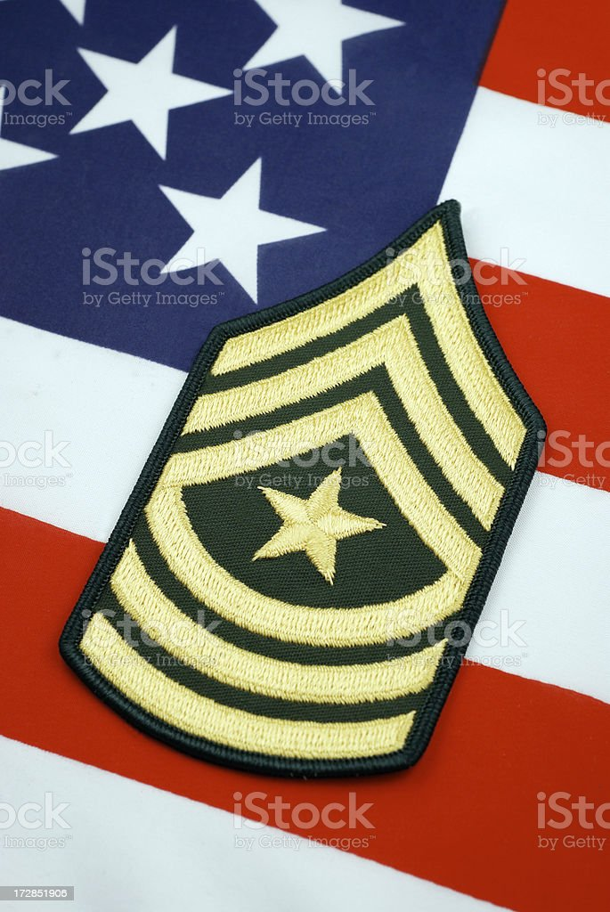 U.S. Army Sergeant Major Rank Insignia royalty-free stock photo