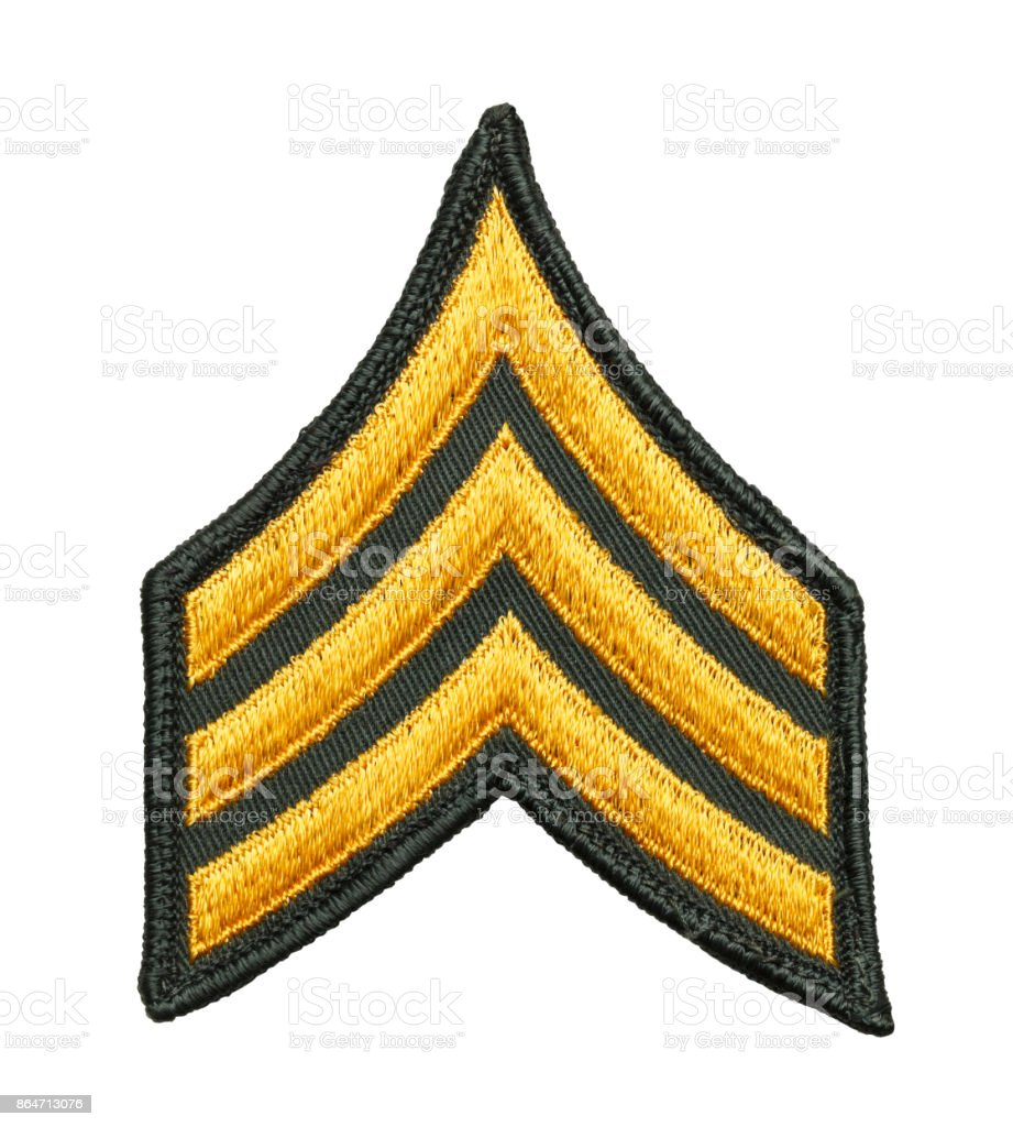 Army Sergeant Patch stock photo