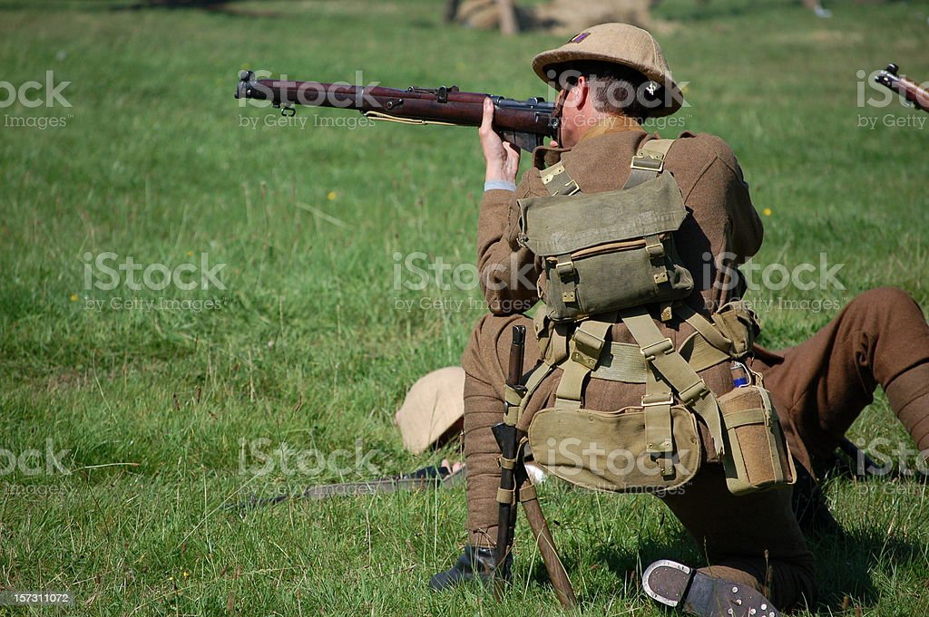 Army Sniper. royalty-free stock photo