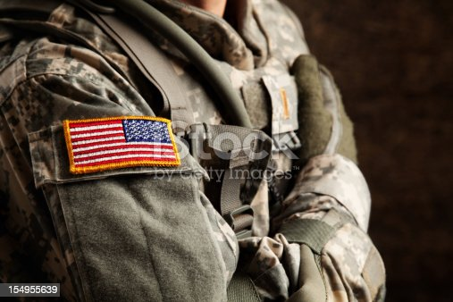 istock US Army Soldier in Universal Camouflage Uniform 154955639