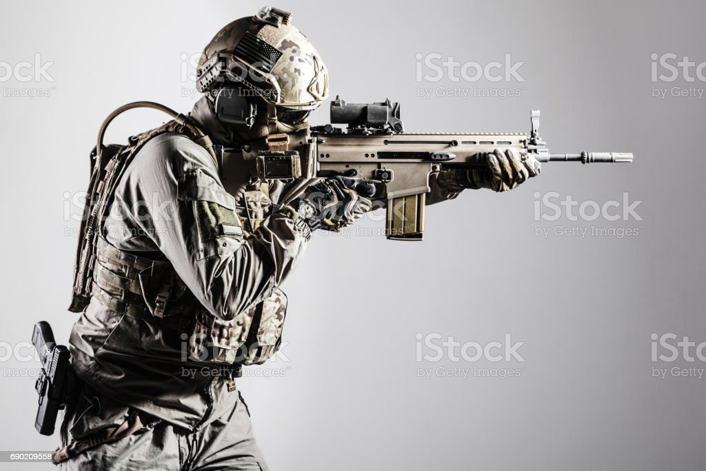Army soldier of Special Operations Forces stock photo