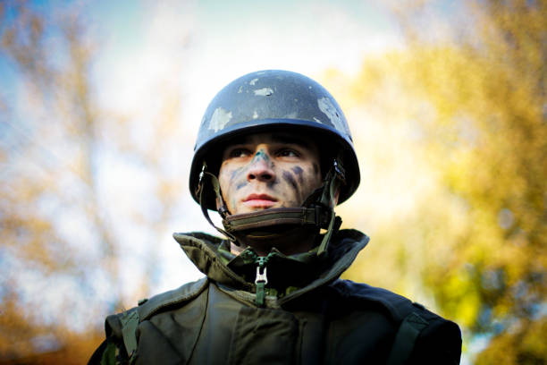 Army Soldier Portrait stock photo