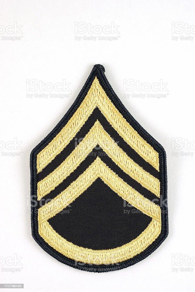 U.S. Army Staff Sergeant Rank Insignia stock photo