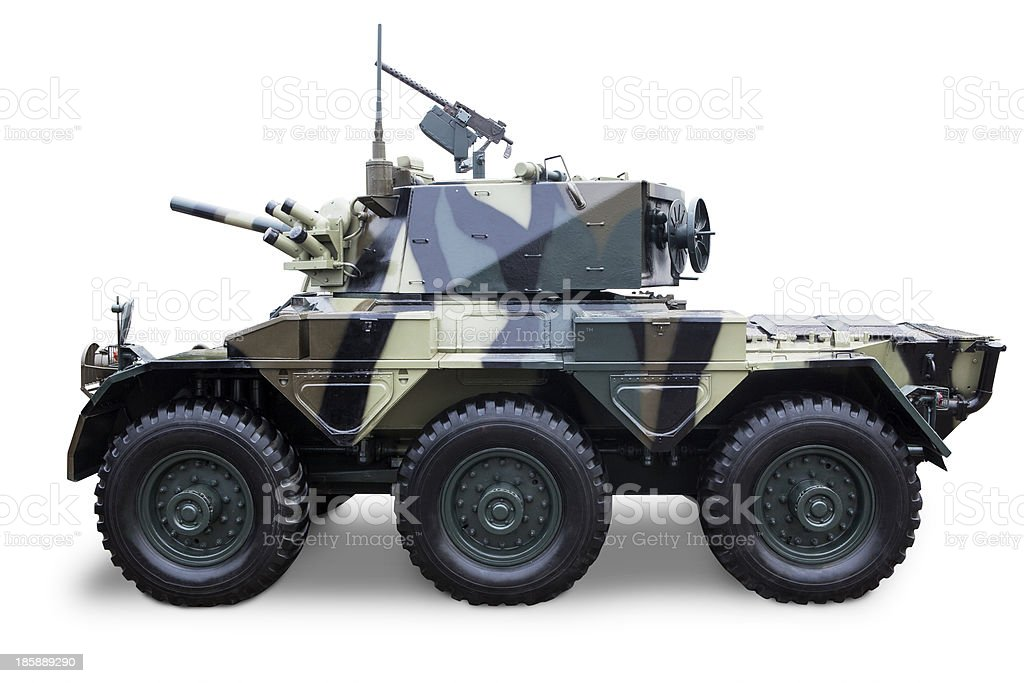 Army tank isolated stock photo