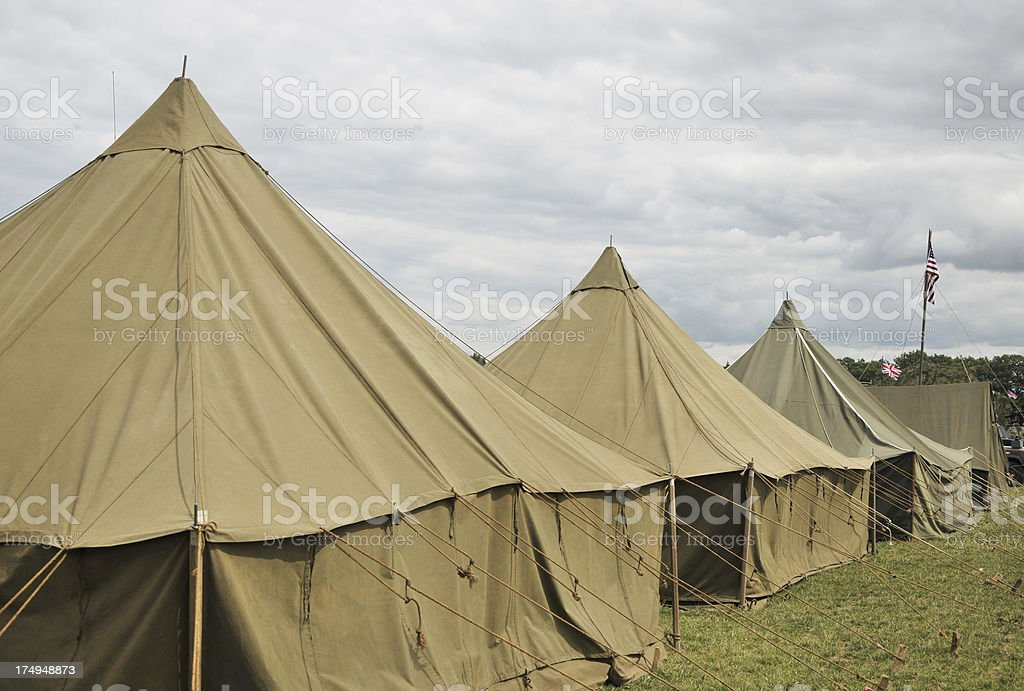 Army Tents stock photo