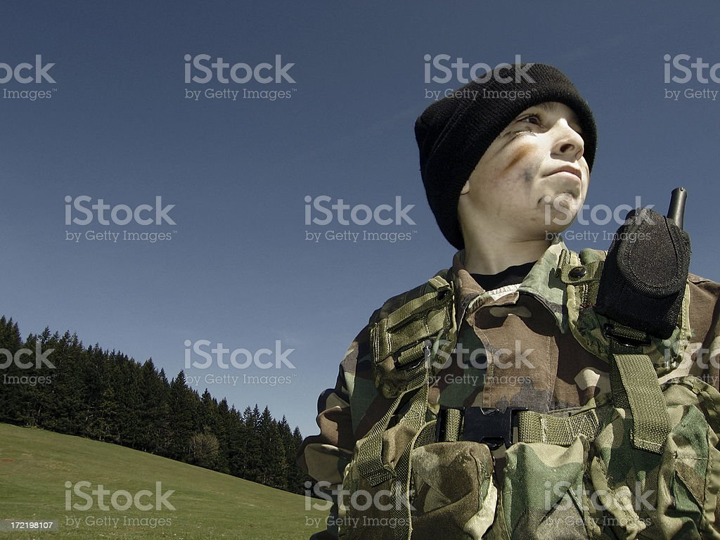 Army The Kid stock photo