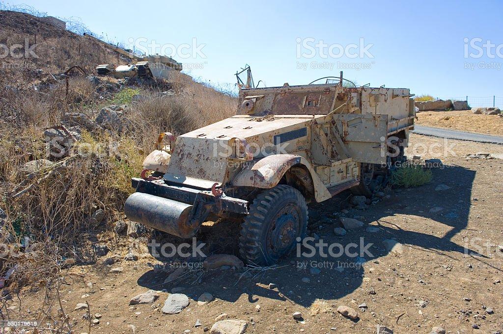 Army truck of yom kippur war stock photo