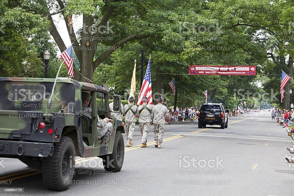army trucks 4th of july parade royalty-free stock photo