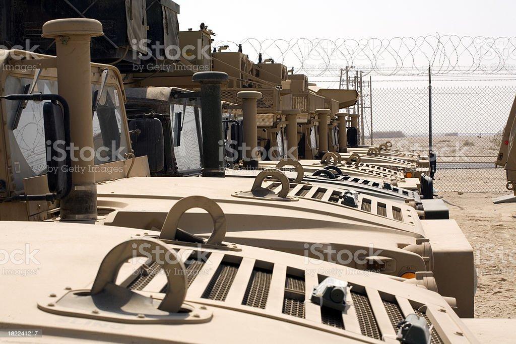 Army Trucks HUMVEE stock photo