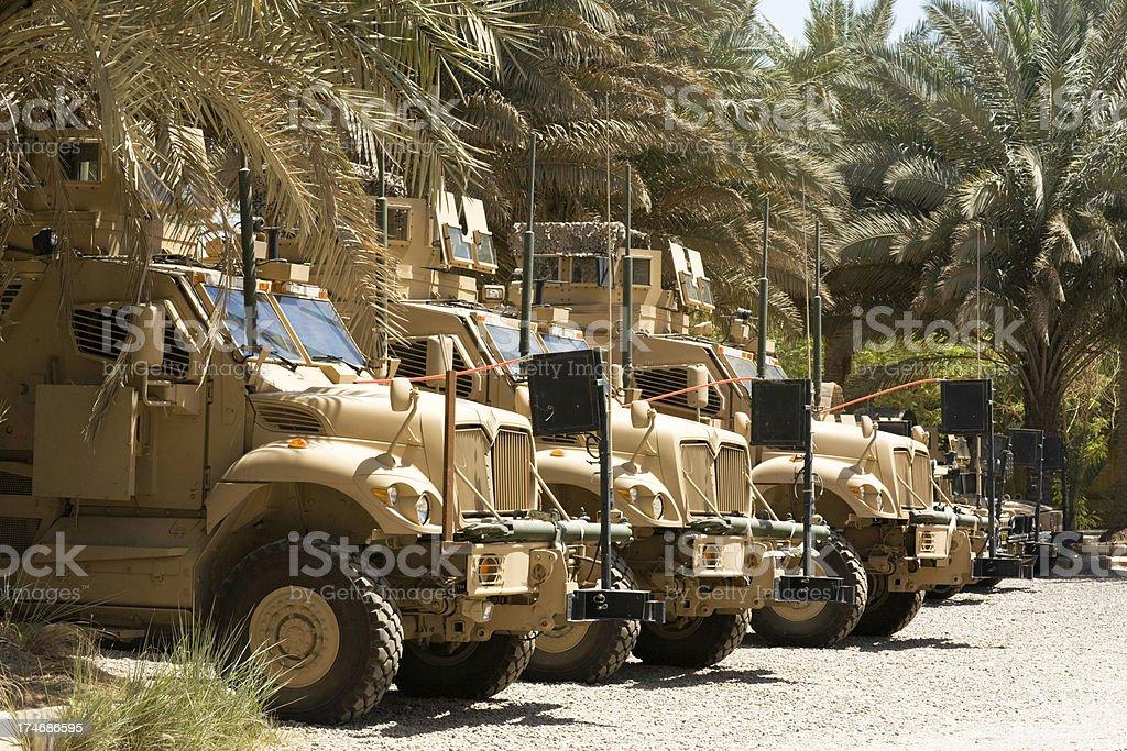 Army Trucks in Iraq stock photo