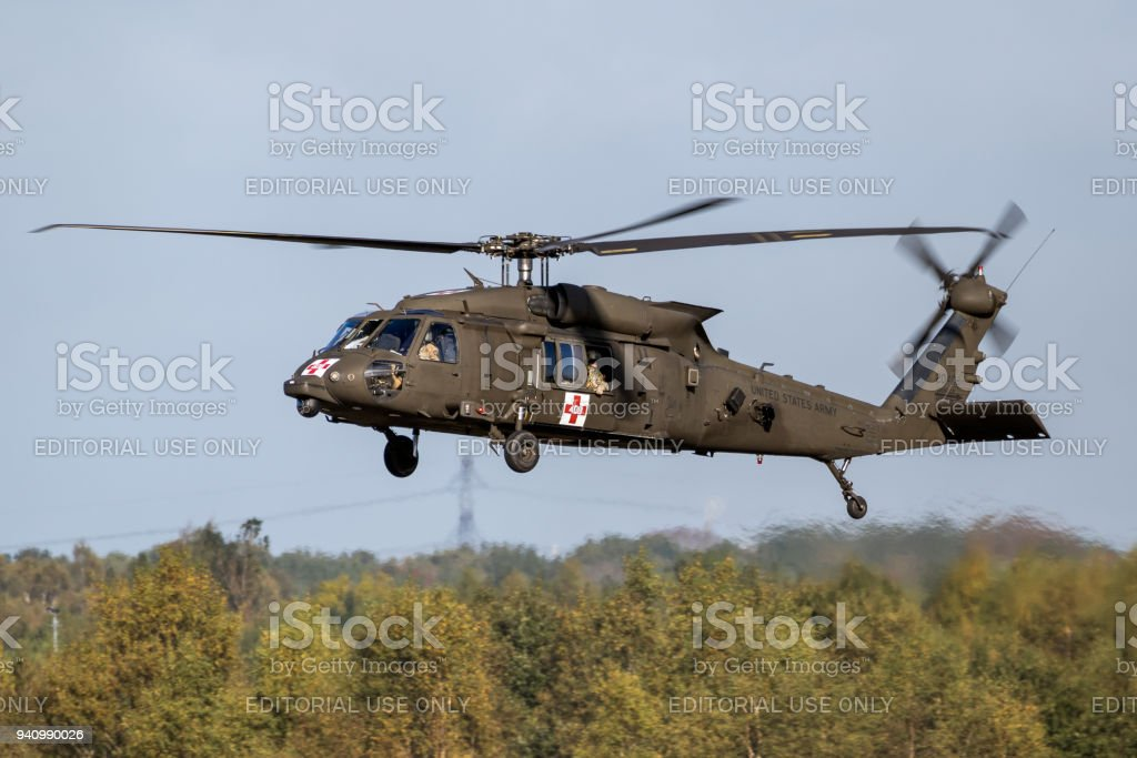 Us Army Uh60 Blackhawk Helicopter Stock Photo Download Image Now