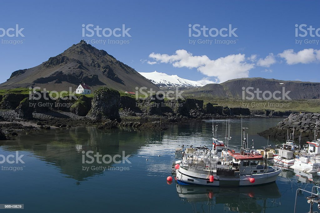 Arnarstapi Fishing hamlet in Icealnd stock photo