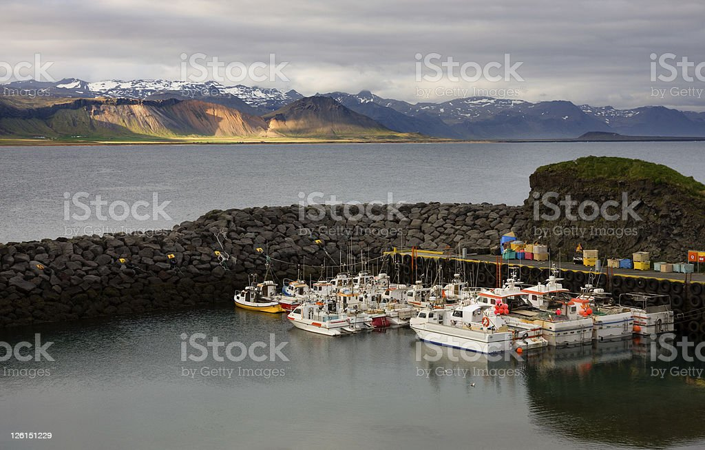 Arnarstapi Harbor stock photo