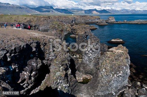istock Arnarstapi rock formations of Iceland's coast 543211102