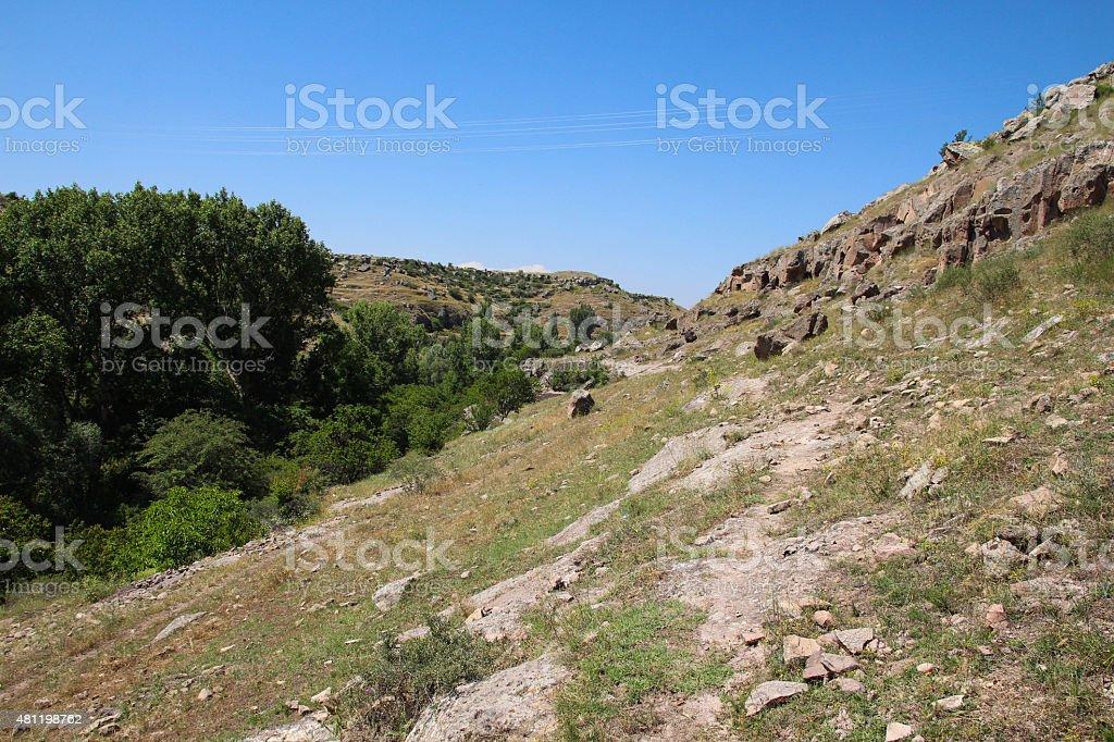 Ağırnas akbin Valley stock photo