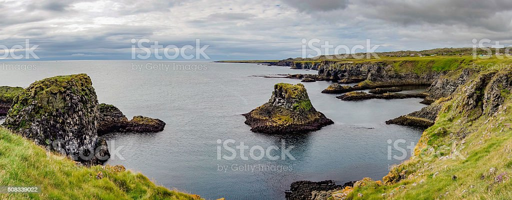 Arnastapi cliffs stock photo