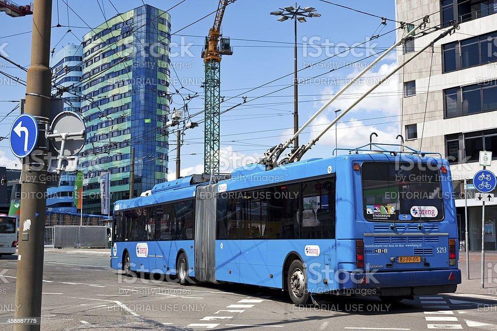 Arnhem trolley bus royalty-free stock photo