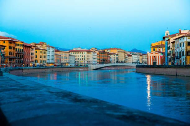 Arno river in Pisa stock photo