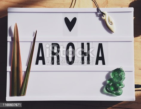 Light Box Trend in a Maoritanga Theme. Te Reo (Maori Language) that every Kiwi or New Zealander should know. Aroha means Love.