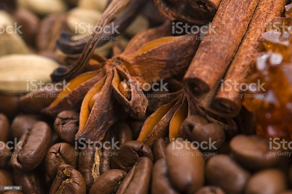 aroma coffe. ingredients royalty-free stock photo