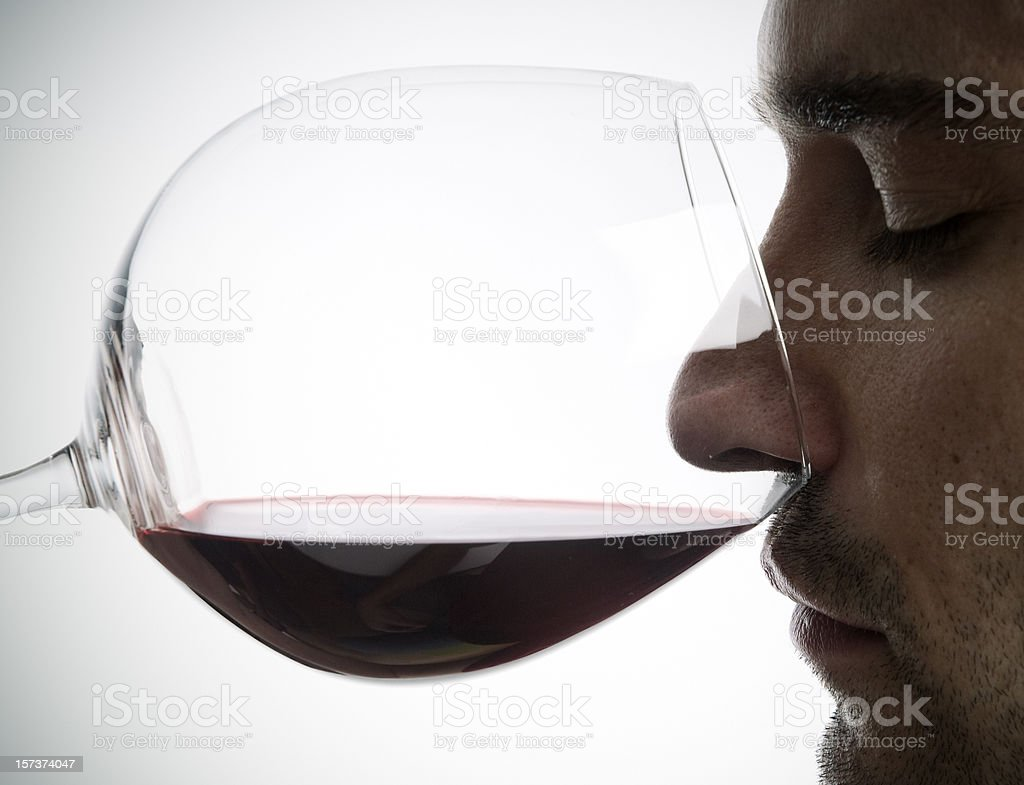 aroma in wine stock photo