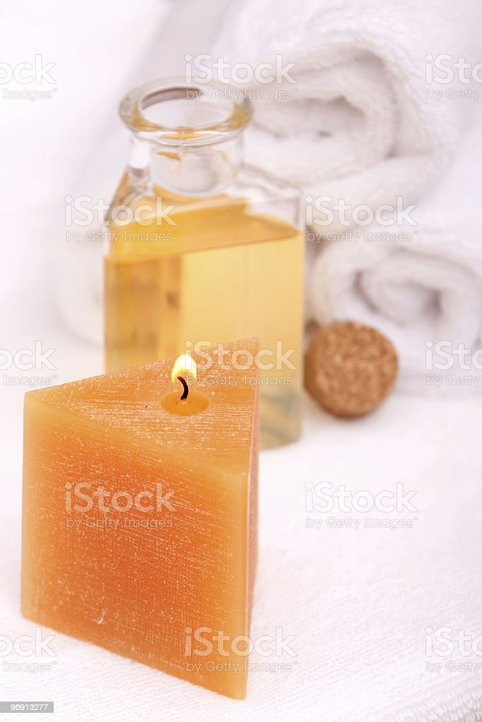 Aromatherapy and spa objects royalty-free stock photo