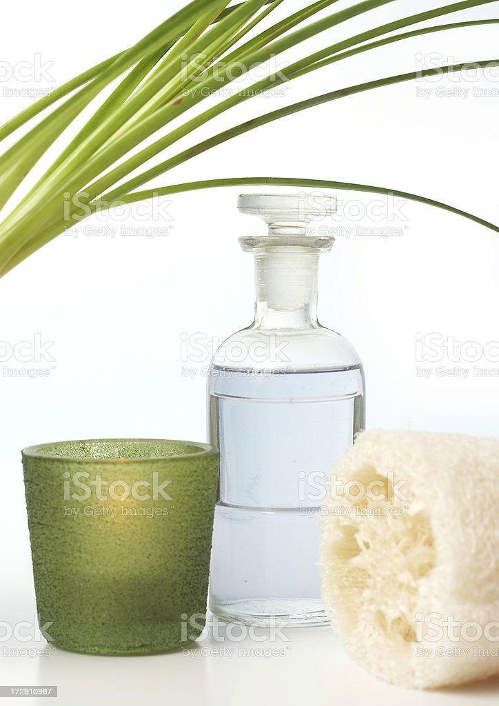 aromatherapy bath items royalty-free stock photo