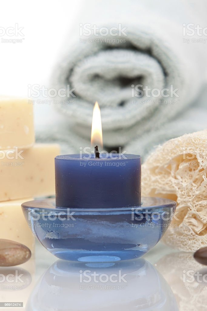 Aromatherapy candle royalty-free stock photo