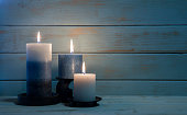 Aromatherapy Candles for Christmas and Hannukah Background