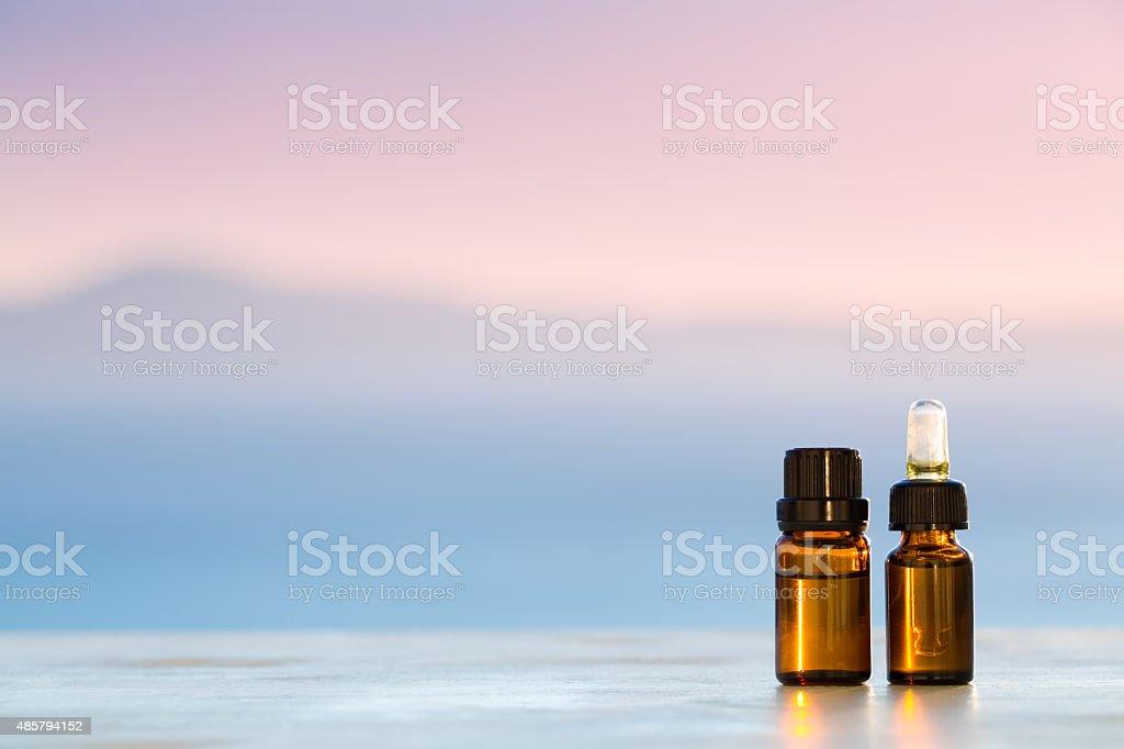 Aromatherapy essential oils stock photo