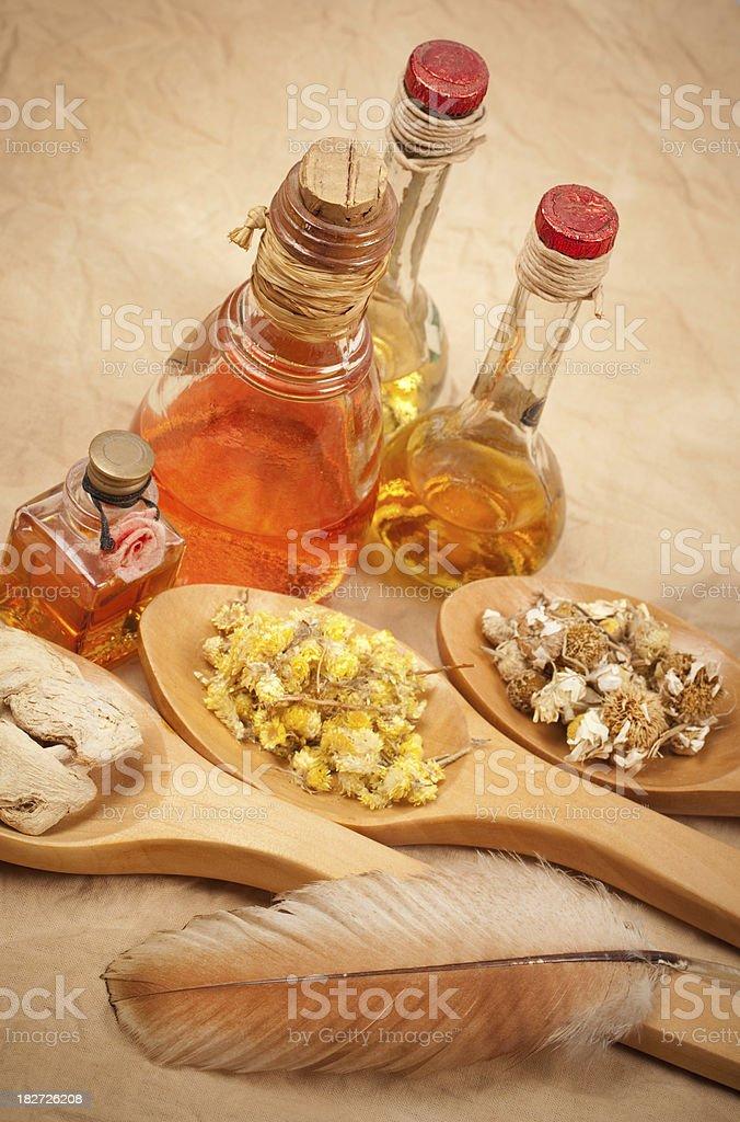 Aromatherapy, herbal treatment royalty-free stock photo