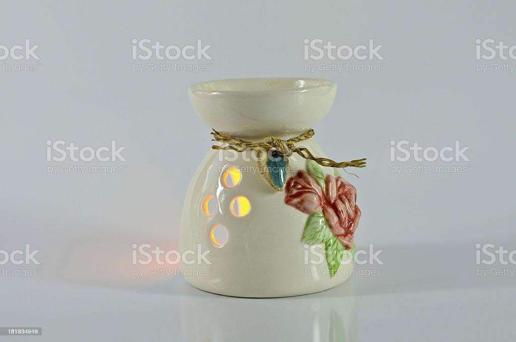 Aromatherapy lamp isolated on white royalty-free stock photo