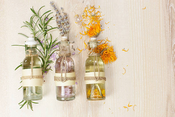 aromatherapy massage oils - aromatherapy stock photos and pictures