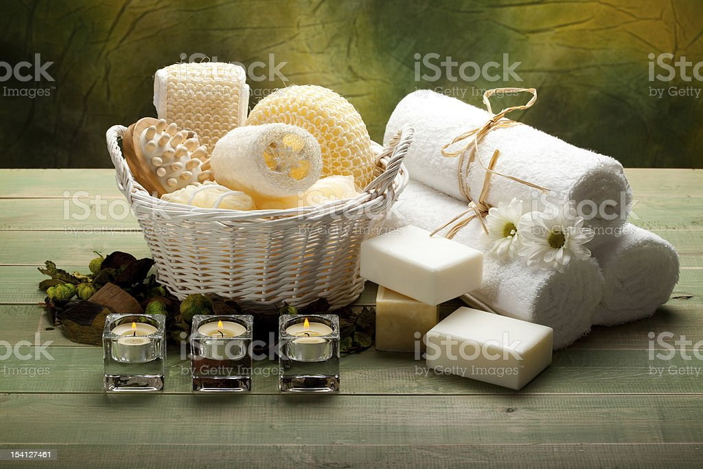 Aromatherapy - Massage tools royalty-free stock photo