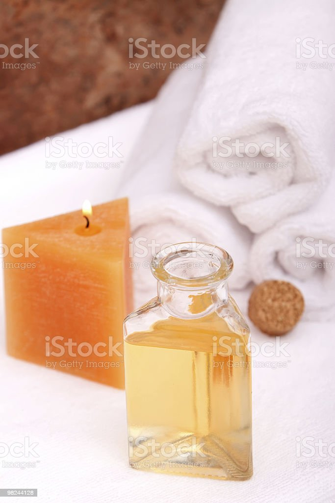 Aromatherapy objects royalty-free stock photo