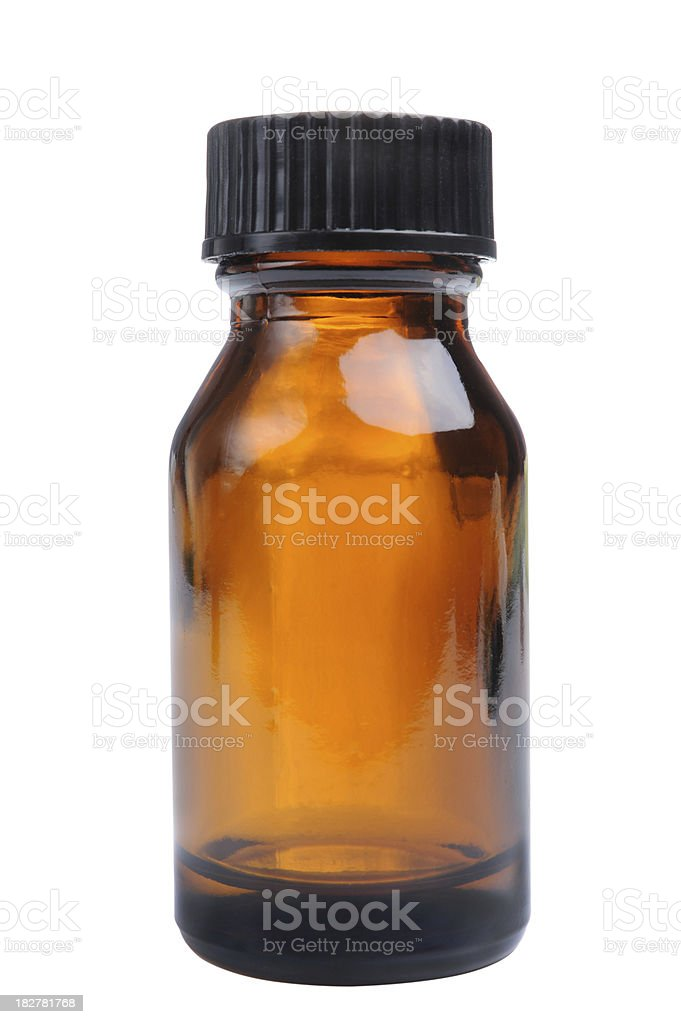 Aromatherapy Oil Bottle Isolated stock photo
