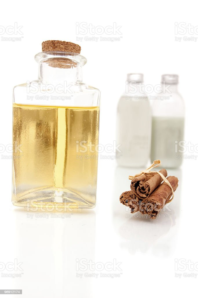 Aromatherapy oils and lotions royalty-free stock photo
