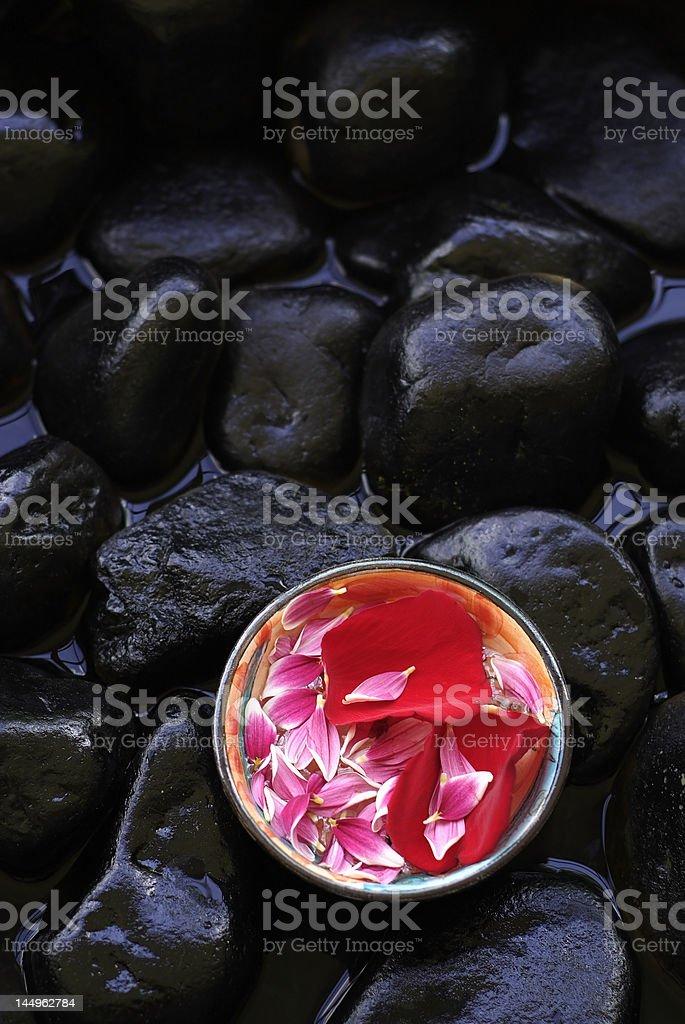 Aromatherapy petals royalty-free stock photo