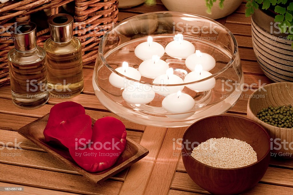 Aromatherapy spa treatment royalty-free stock photo