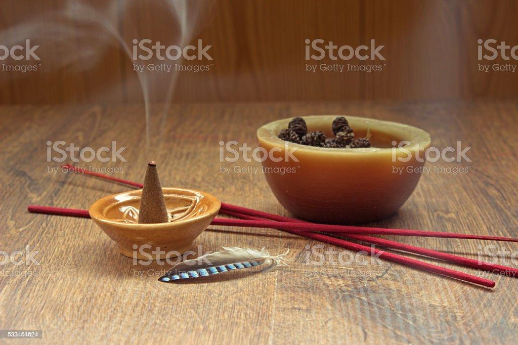Aromatherapy theme background stock photo