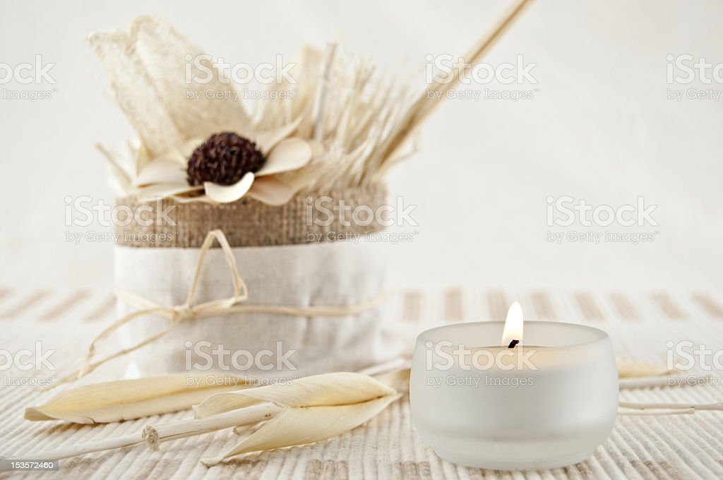 Aromatherapy with candles royalty-free stock photo