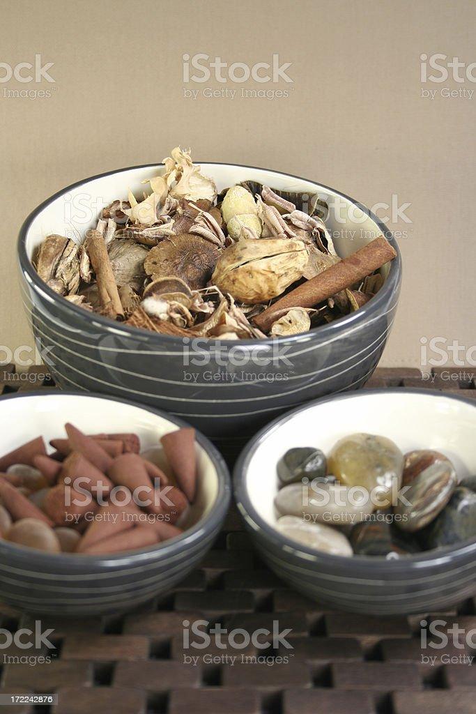 aromatherapy zen stones - Royalty-free Alternative Medicine Stock Photo